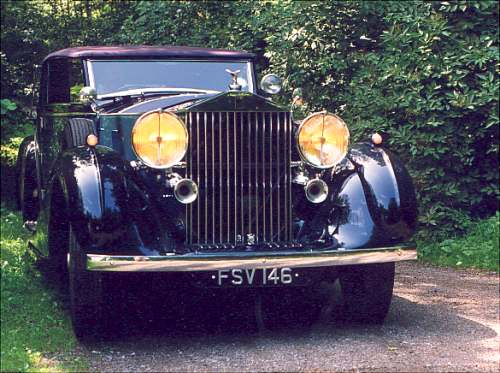 Rolls-Royce Phantom III, 1936, #3AX193, James Young drophead coupé.
